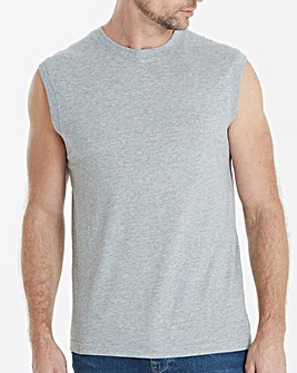 Capsule Grey Marl Muscle Top