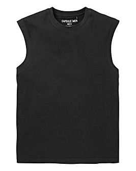 Capsule Black Muscle Top