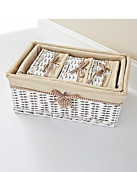Gingham Heart Set of 5 Baskets