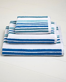 Pembroke Stripe Bath Towel Pair