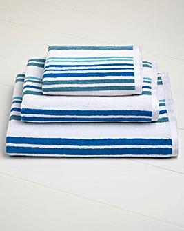 Pembroke Stripe Bath Towel Pair