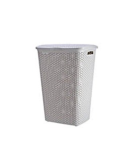 Curver 55 Litre Laundry Hamper - Cream.