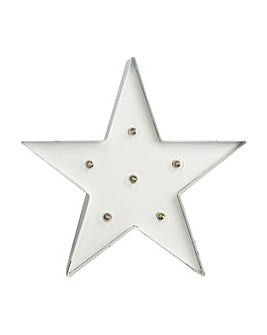 White Light Star Metal  Art
