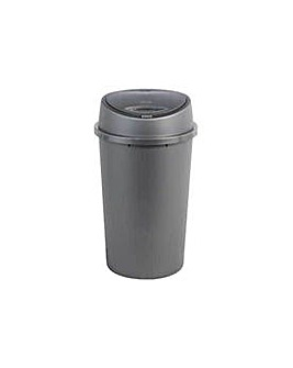 45 Litre Touch Top Kitchen Bin - Silver.