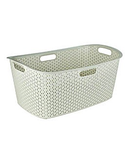 Curver Rattan Laundry Basket - Cream.