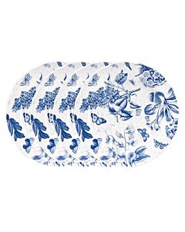 "Portmeirion Botanic Blue 6"" Plates x 4"