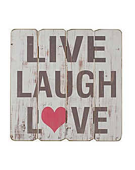 Wooden Live Laugh Love Wall Plaque