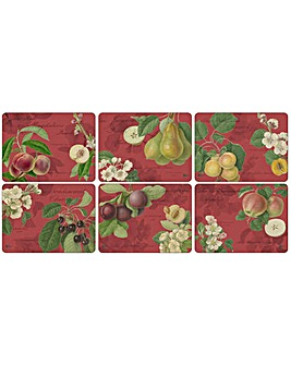 Pimpernel Hooker Fruits Red Placemats