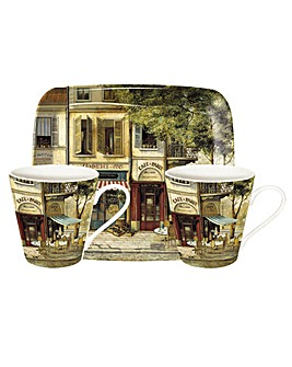 Pimpernel Parisian Scenes Mug & Tray Set
