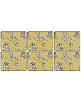 Pimpernel Etchings & Roses Yellow mats