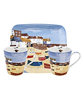 Pimpernel St Ives Mug & Tray Set