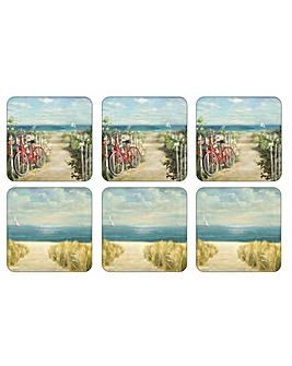 Pimpernel Summer Ride Coasters