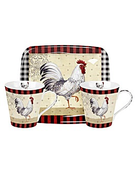 Pimpernel Country Touch Mug & Tray Set