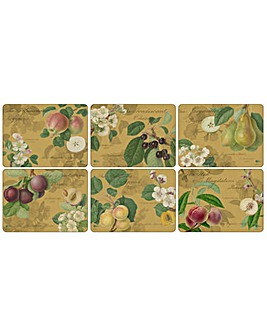 Pimpernel Hooker Fruits Gold Placemats