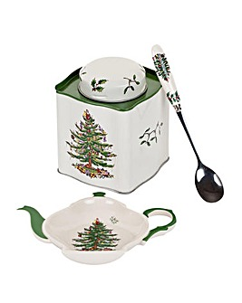 Christmas Tree Three Piece Tea Set