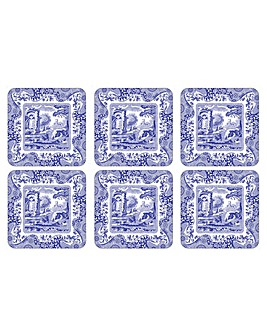Pimpernel Blue Italian Coasters