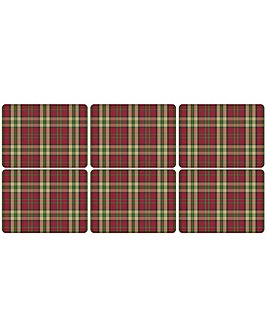 Pimpernel Tartan Red Placemats