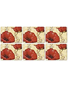 Pimpernel Poppy De Villeneuve Placemats