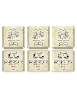 Pimpernel Vin de France Coasters