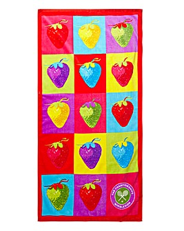 Wimbledon Christy Strawberry Beach Towel