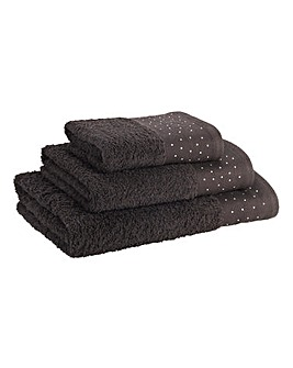 Diamante Bath Towel
