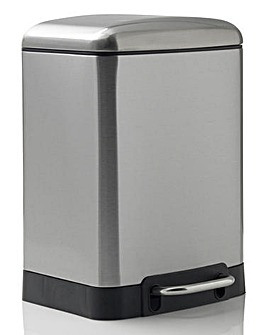 Oslo Rectangle Pedal Bin 6L Chrome
