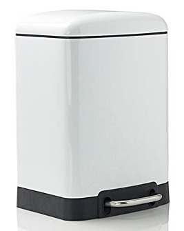 Oslo Rectangle Pedal Bin 6L White