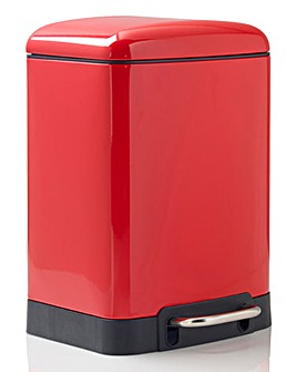 Oslo Rectangle Pedal Bin 6L Red