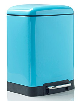 Oslo Rectangle Pedal Bin 6L Blue