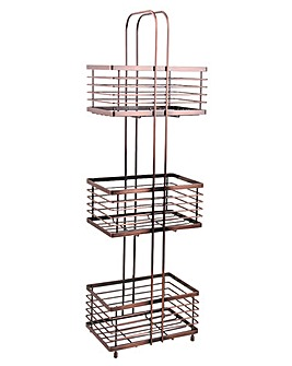 Copper 3 Tier Floor Caddy