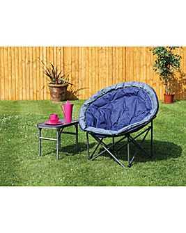 Deluxe range large navy blue moon chair