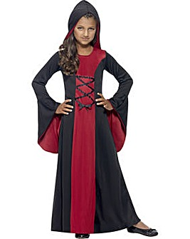 Halloween Girls Hooded Vampiress Costume