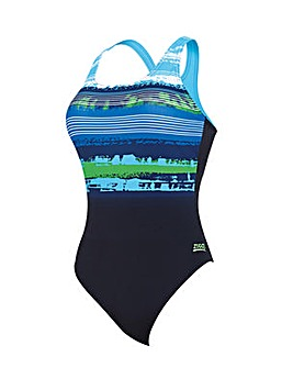 Zoggs Aquabrush Actionback Swimsuit