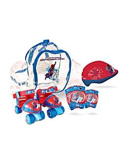 The Amazing Spiderman Quad Skates Set