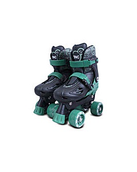 Zinc Adjustable Quad Skates - Black.