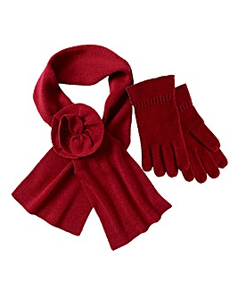 SCARF AND GLOVES SET