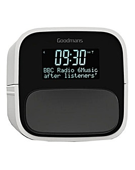 Goodmans DAB/FM Clock Radio Off White