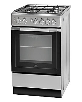 Indesit 50cm Gas Single Oven Silver