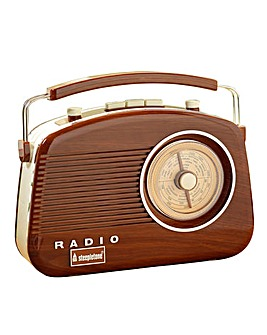 Brighton Wood Retro Radio