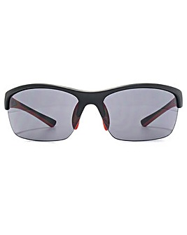 FCUK Semi Rimless Wrap Sunglasses