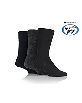 3 Pair Gentle Grip Socks