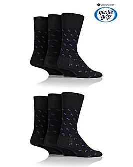 6 Pair Gentle Grip Socks