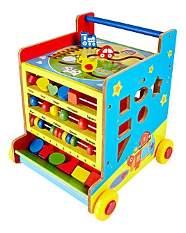 Wooden 8 in 1 Activity Learning Cart