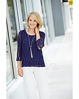 Nightingales Lace Embroidered Top