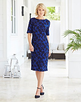 Nightingales Jacquard Shift Dress