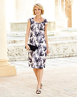 Nightingales Satin Printed Dress