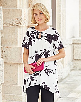 Nightingales Mono Floral Top