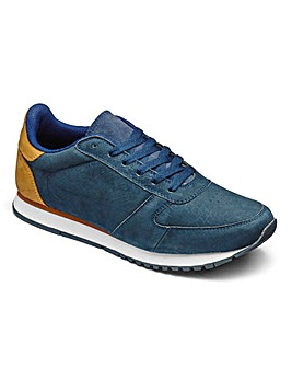 JCM Sports Suede Trainers Std Fit
