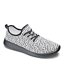 JCM Sports Knitted Lace Up Trainers STD
