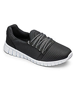 Be Active Over laced Trainers E Fit